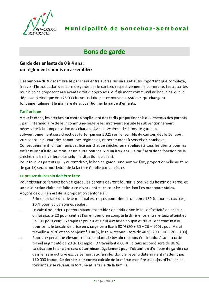 thumbnail of Bons de garde